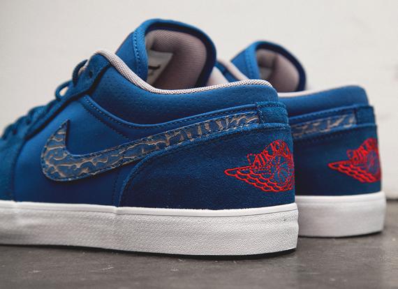 Air Jordan AJ V.2 Low – True Blue – Fire Red