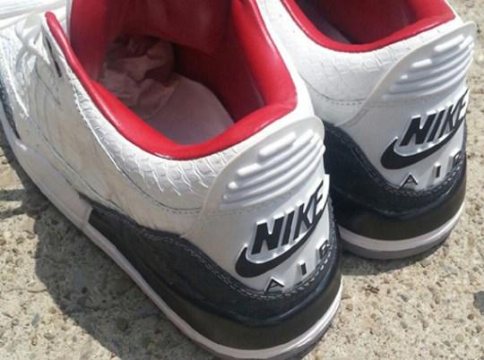 "Air Jordan III Retro '88 ""White Croc"" by PMK Customs"
