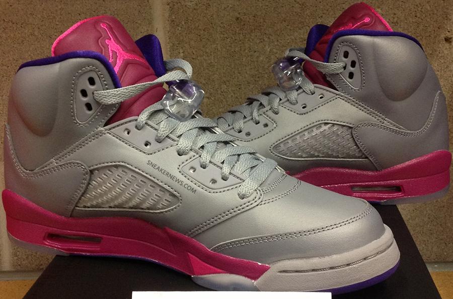 7b0bdff61f2e Air Jordan V GS - Cement Grey - Pink Flash - Raspberry Red - Electric  Purple - SneakerNews.com