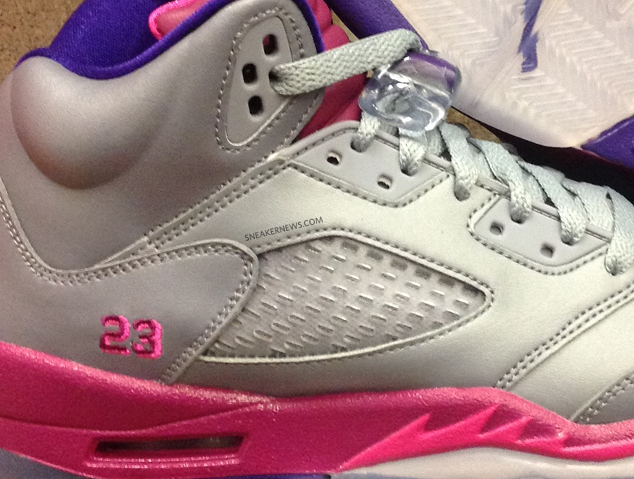 3fb73c8816c4 Air Jordan V GS – Cement Grey – Pink Flash – Raspberry Red – Electric Purple