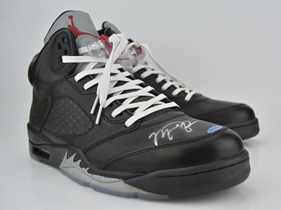 Mens Air Jordan 5 V) Retro Premio Shoe White shoes