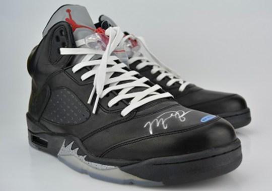 "5c8ab315b730d3 Air Jordan V ""Premio"" – Michael Jordan Autographed Pair on eBay"