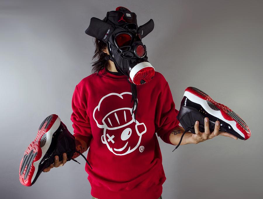Kicks: @DjDelz x 1995 & 2012 Air Jordan Bred 11 Sneaker ...