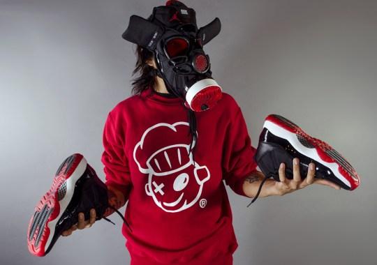 "Air Jordan XI ""Bred"" Gas Mask by Freehand Profit"