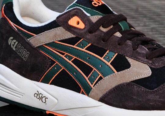 "Asics Gel Saga II ""Camo"" – Brown – Orange – Green"