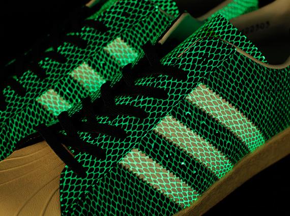 atmos x adidas Originals Superstar 80s quot Glow In The Dark Snakequot