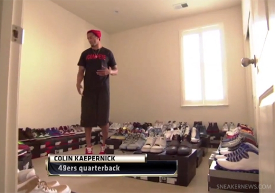 Colin Kaepernick Shows ESPN His Sneaker Collection