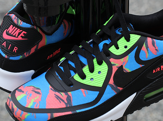 new concept f516f e56b7 Nike Air Max 90 Tape - Blue Hero - Flash Lime - Atomic Red - SneakerNews.com