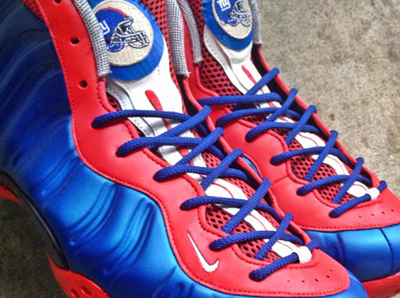 """huge selection of 050ba 18cb1 Nike Air Foamposite One """"New York Giants"""" by noldocustoms"""