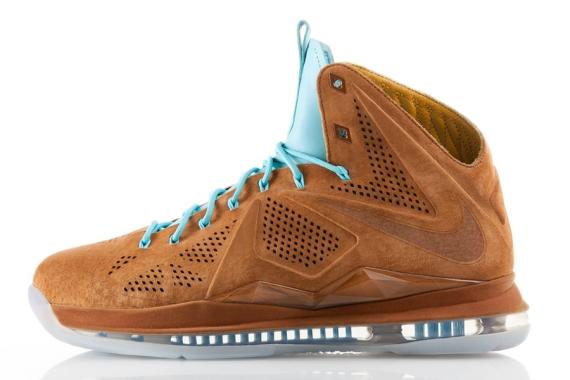 """quality design a26e1 e828d Nike LeBron X EXT """"Brown Suede"""" Suede Brown Suede Brown-Sea Royal-White  607078-200 07 06 13"""