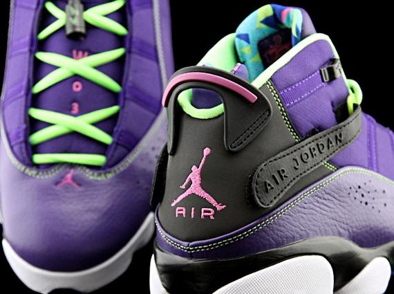 Jordan 6 Rings - Purple - Black - Volt
