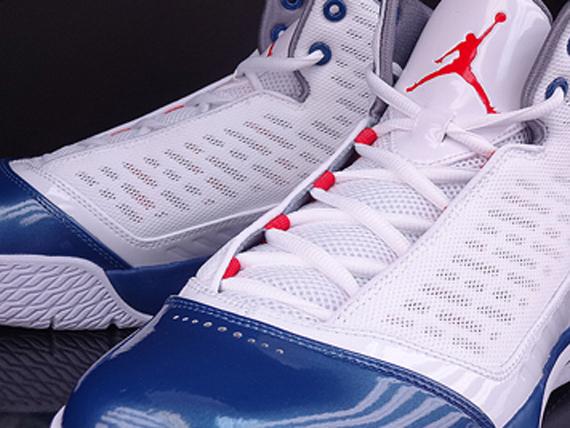 new concept b4caf 421c6 Jordan B Mo - White - Fire Red - True Blue - Cement Grey - SneakerNews.com