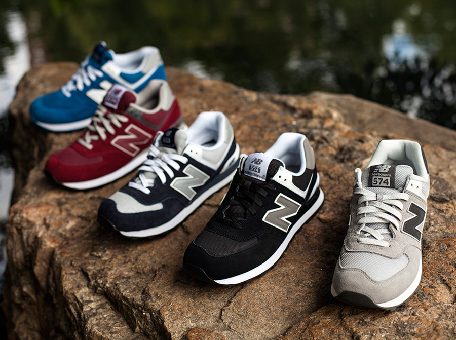 new balance 574 classic rouge