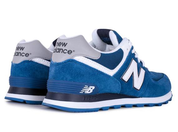 new balance 574 blue white