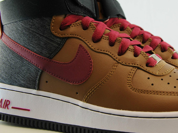 nike air force 1 red and brown