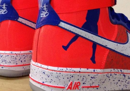 "Nike Air Force 1 High Sheed ""Roscoe"" – Total Crimson"