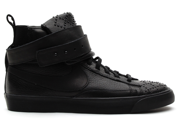Nike Blazer Mediados Giro Ante Negro