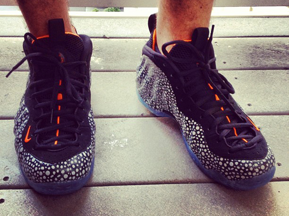 7773cf1e8be durable modeling Nike Air Foamposite One quot Safariquot On Feet Images