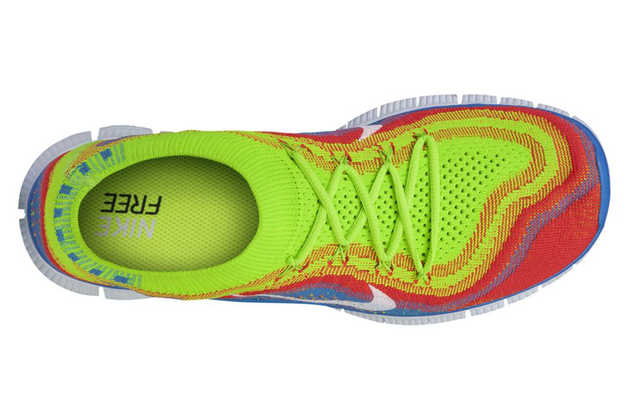 outlet store 57068 27d70 Nike Free Flynkit+ Electric Green White-Bright Crimson 615805-316