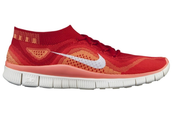 the latest 1c818 fa02e Nike Free Flyknit University Red White-Bright Crimson 615806-616 08 01 13