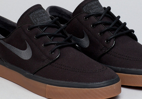 promo code 93fe4 1b788 usa nike zoom stefan janoski cnvs shoes black white metallic gold gum light  brown ridestore 746f4 1599e  sale nike sb stefan janoski black anthracite  gum ...