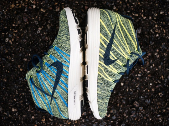 Nike Lunar Flyknit Chukka – Squadron Blue – Electric Yellow   Available