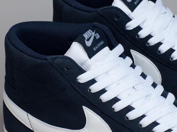 Nike Blazer Mid Blanc Obsidienne woHFp