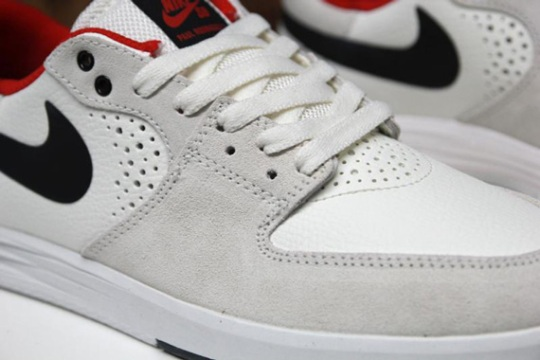 Nike SB Paul Rodriguez 7 – Sail – Black – University Red