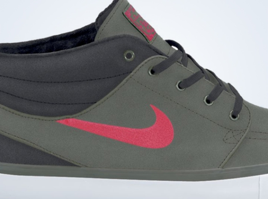 Nike SB Stefan Janoski Mid – Mercury Grey – Atomic Red – Anthracite