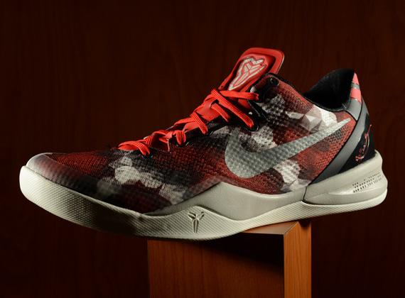 "wholesale dealer e1955 6ce8f Nike Kobe 8 ""Milk Snake"" University Red Sail-Noble Red-Pearl Grey  555035-601 07 27 13"