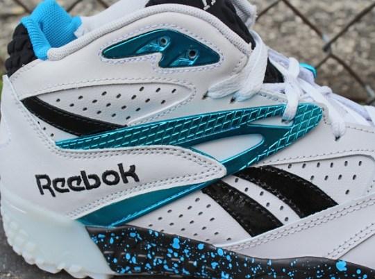 Reebok Scrimmage Mid – White – Metallic Blue – Black