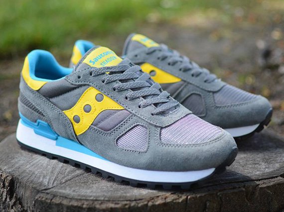 saucony grey blue