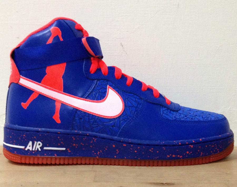 prix de sortie Nike Air Force 1 High Bleu Et Orange Haut boutique pour vendre jeu 2014 nouveau wT1ghQ