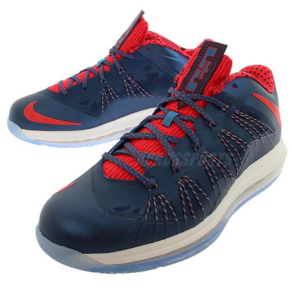 sports shoes 427a4 f22fa Nike LeBron X Low Squadron Blue Sunburts-Shaded Blue-Sail 579765-400  07 27 13