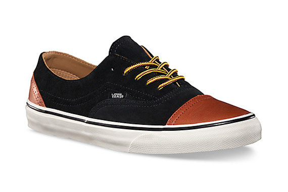 36c4a8285345b9 Vans California Era Brogue - Black - Brown - SneakerNews.com