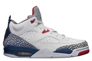 ea810b88b774 Jordan Son of Mars Low White True Blue-Fire Red-Cement Grey 580603-106  07 27 13