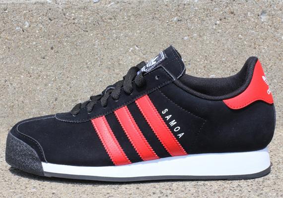 adidas Originals Samoa - Black - Red