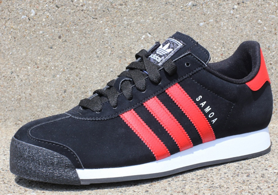 adidas samoa white and red
