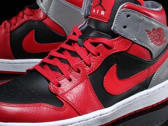 Air Jordan 1 Mid – Fire Red – Black – Cement Grey – Reflective Silver 7ef3cc6c4048