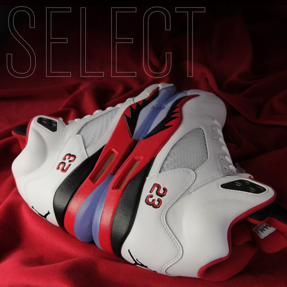 "Sneaker News Select: Air Jordan V ""Fire Red"""