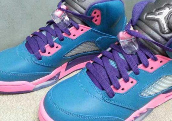 air jordan pink and blue