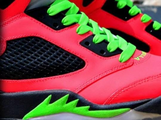 "Air Jordan V ""Vanilla Ice"" Custom by Freaker Sneaks"