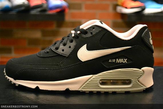 buty na codzień niższa cena z oficjalne zdjęcia Nike Air Max 90 Essential LTHR - Black - Mortar - Mine Grey ...