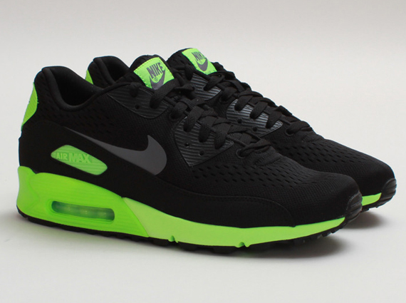 nike air max 90 em – black / flash lime cena