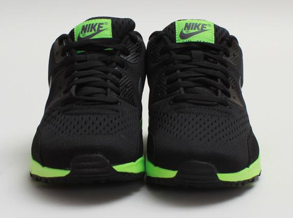 sale retailer 2da46 cf23c Nike Air Max 90 Premium Comfort EM Black Dark Grey-Flash Lime 599405-003.  show comments