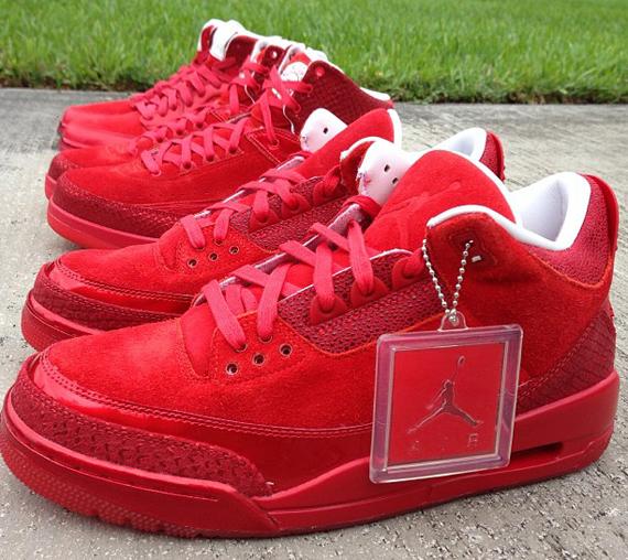 jordan 3 all red