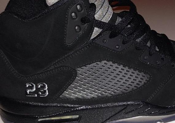 5i6mc1 All Black Air Jordan 5 Nikes Discount Black Air Jordan 5