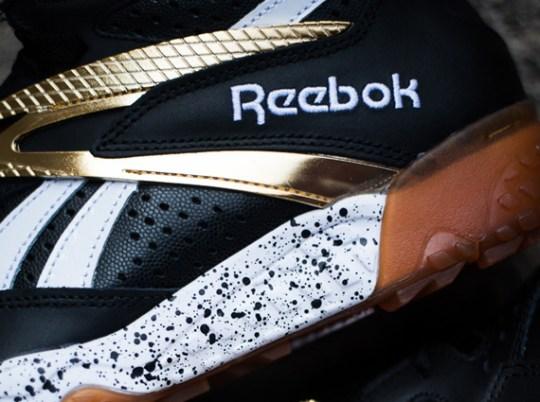 Reebok Scrimmage Mid – Black – Gold – Gum