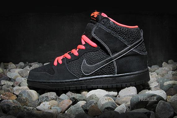 Nike Sb Dunk High Pro Croix Noire / Rouge Atomique FUbQ0
