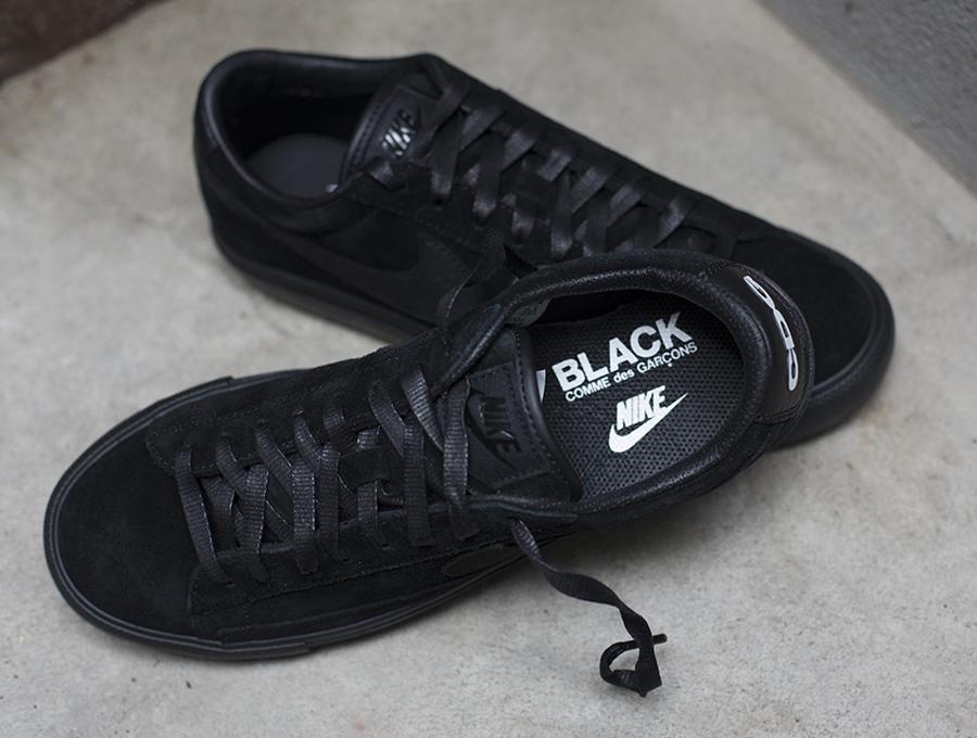 best service 72fe7 b761d BLACK CDG x Nike Blazer Low - SneakerNews.com